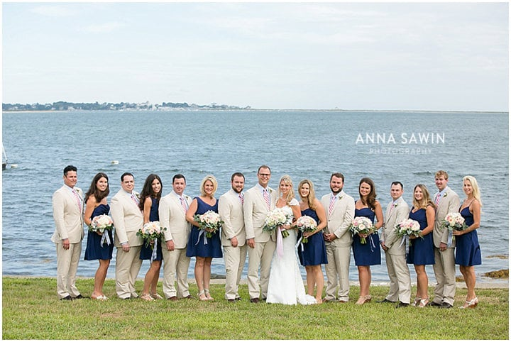 Stonington_Beach_Wedding_WadawanuckClub_AnnaSawinPhotography_StoningtonCT_NavyBlueBridesmaids_ConnecticutShoreline_014
